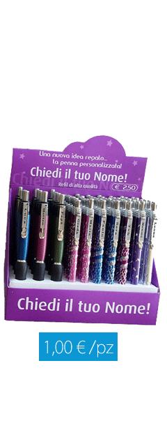 Espositore penne con nome